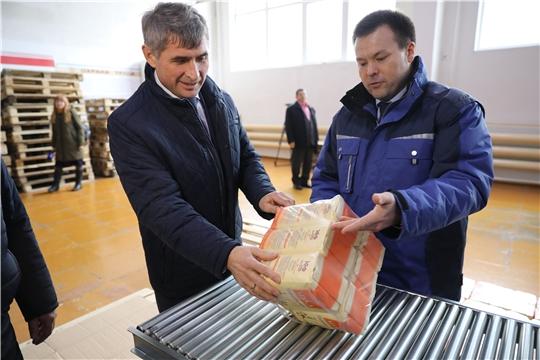 Врио Главы Чувашии Олег Николаев на Чебоксарском элеваторе