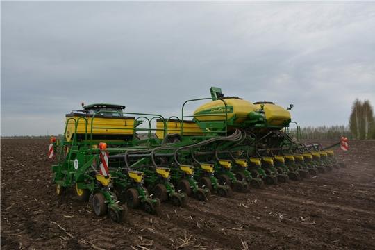 В хозяйствах Яльчикского района сев яровых зерновых культур близится к завершению