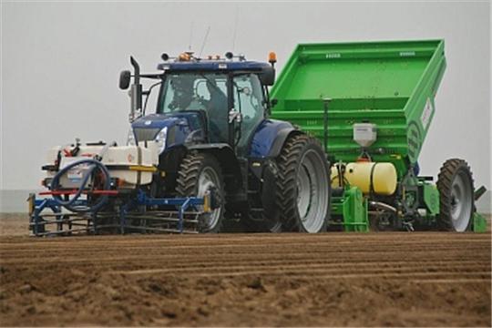 В республике посеяно 159,2 тыс. га яровых зерновых и зернобобовых культур, 82,1% к плану