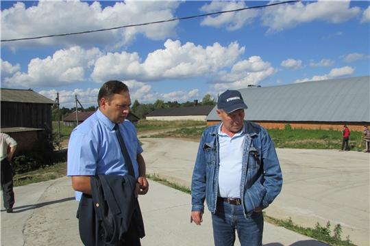 Заместитель министра сельского хозяйства Чувашской Республики Лисицын С. В. посетил Аликовский район