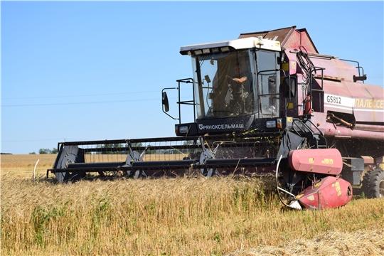 В сельхозпредприятиях Красночетайского района продолжается сев озимых и уборка нового урожая