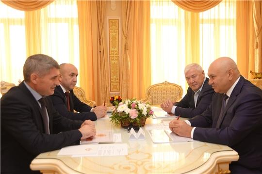 Олег Николаев встретился с первым заместителем министра сельского хозяйства России Джамбулатом Хатуовым