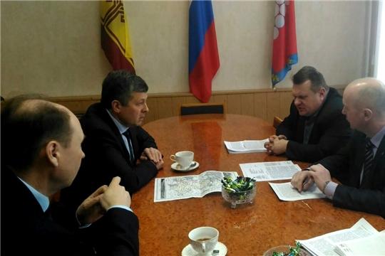 И.о. министра Владимир Осипов с рабочим визитом посетил Ядринский район