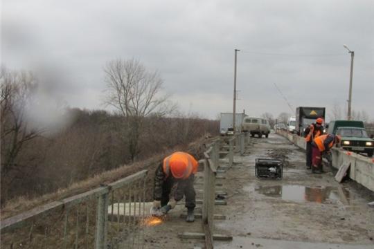 О ходе работ по капитальному ремонту мостового сооружения через р. Сура