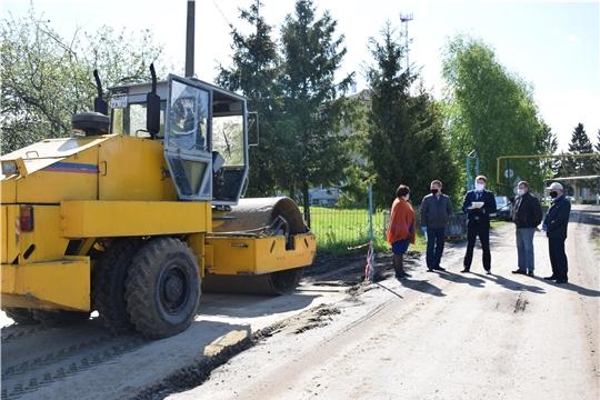 В Красночетайском районе проведена очередная инспекционная поездка по объектам дорожного ремонта
