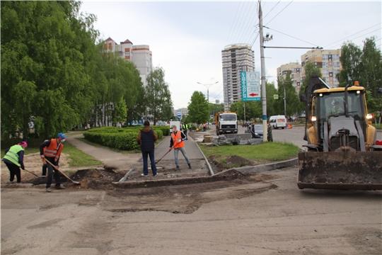 В рамках проекта «Улицы Победы» в Новочебоксарске продолжается заключительный 4 этап ремонта улицы Винокурова