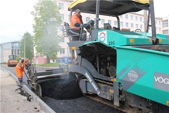 В мае чебоксарские дорожники завершили ремонт 5 дорог