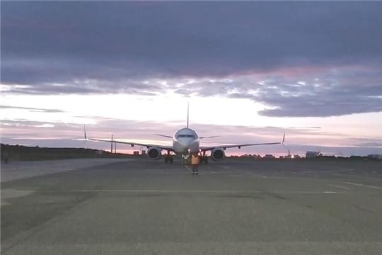 Аэропорт г. Чебоксары принял первый рейс после вынужденного перерыва в работе (NOVONET-НКТВ)
