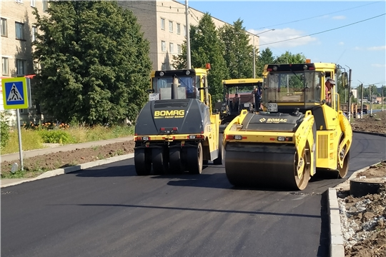 Продолжаются работы по реконструкции автомобильной дороги ул. Фрунзе в г. Канаш