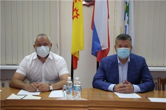 Министр транспорта и дорожного хозяйства Владимир Осипов с рабочим визитом посетил Чебоксарский район