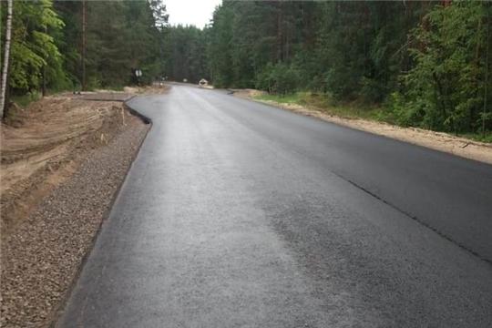 На объекте капитального ремонта автомобильной дороги  Шемурша-Сойгино-Алтышево в Алатырском районе работы завершены на 90%