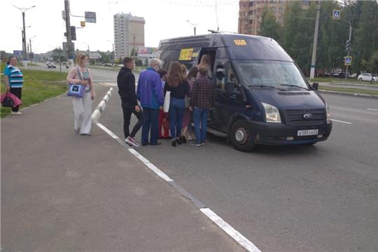 Минтранс Чувашии провел мониторинг работы транспорта по межмуниципальным маршрутам в сообщении «Чебоксары-Новочебоксарск»