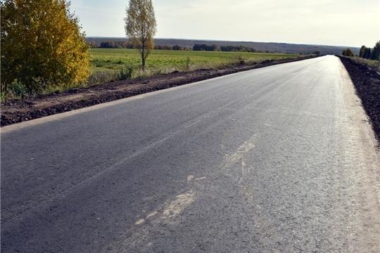 В Моргаушском районе в рамках нацпроекта «БКАД» привели в нормативное состояние 11 автомобильных дорог общей протяженностью 42,53 км
