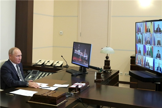 Олег Николаев принял участие во встрече Владимира Путина с избранными главами субъектов Российской Федерации