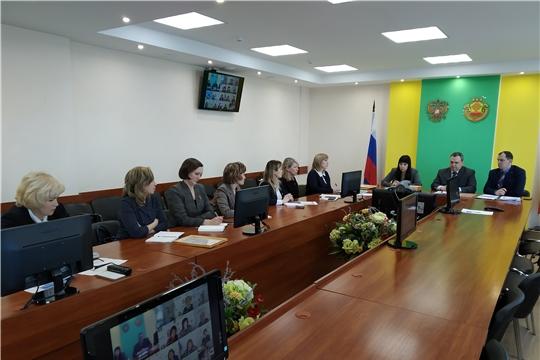 На видеоконференции с руководителями органов ЗАГС  Чувашской Республики обсуждены вопросы формирования Единого государственного реестра записей актов гражданского состояния