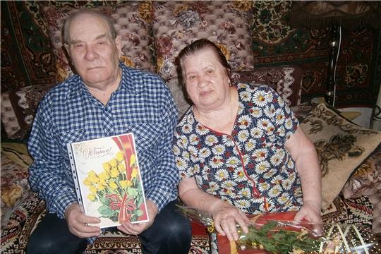 Супружеские юбиляры Кирсеевы из г. Алатырь  – дети военного времени