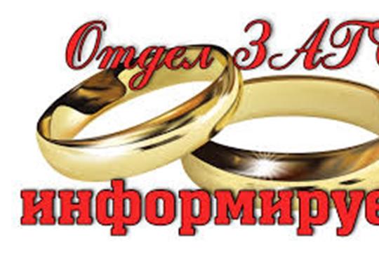 С 1 июня 2020 года в органах ЗАГС Чувашской Республики возобновляется государственная регистрация заключения и расторжения брака