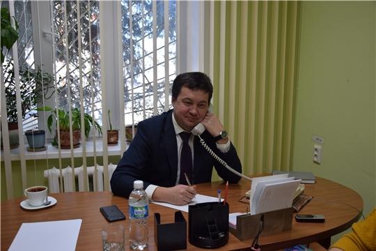Глава администрации Московского района г. Чебоксары Андрей Петров провел «Прямую линию»