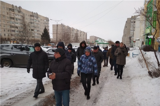 В Московском районе г. Чебоксары проведен субботний комиссионный обход территории