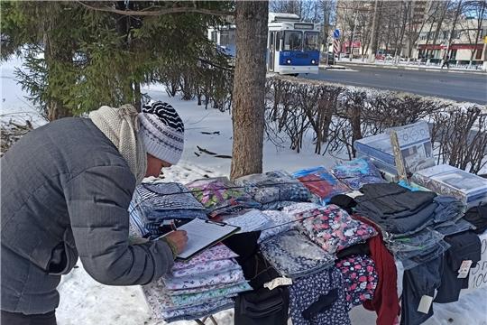 На улицах Московского района г. Чебоксары выявлены факты нелегальной торговли