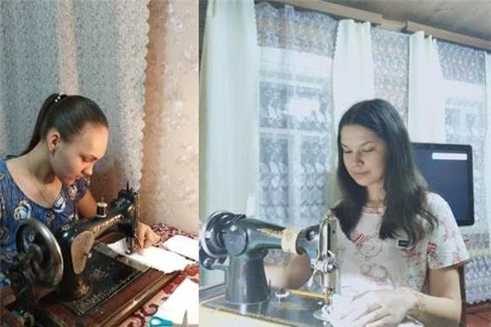 «Чебоксары по домам»: волонтеры Московского района на дому шьют медицинские маски