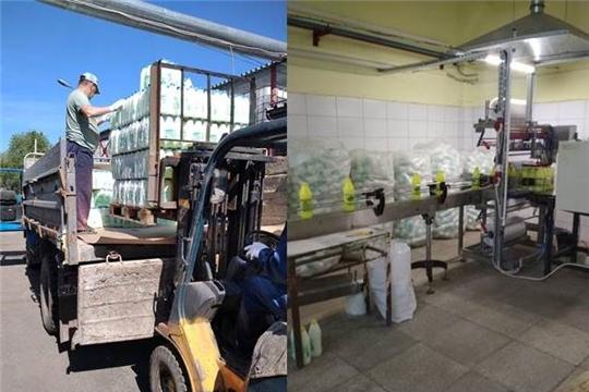 Санитарная обработка в домах продолжается: в Чебоксарах закупили очередную партию дезинфицирующих средств