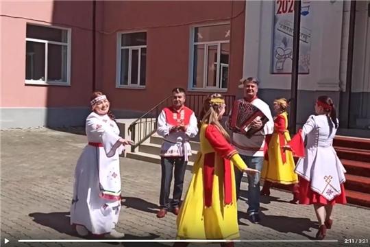 Участники онлайн-эстафеты «Хоровод дружбы» смонтировали итоговый видеоролик о красоте национального костюма