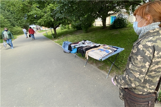 На территории Московского района г. Чебоксары выявлена нелегальная торговля