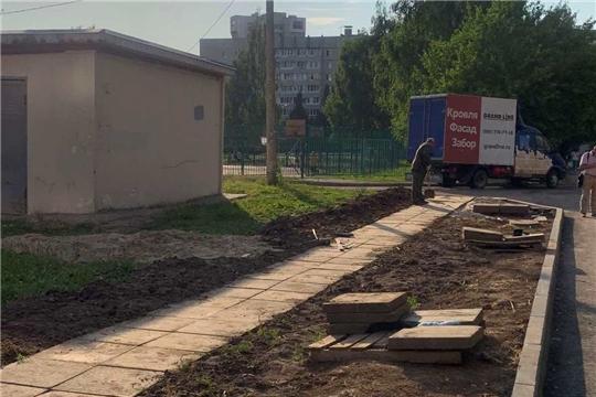 Обустроена пешеходная дорожка к средней школе № 50 г. Чебоксары