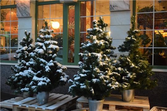 Городские улицы, общественные пространства, фасады зданий готовят к встрече Нового года и Рождества