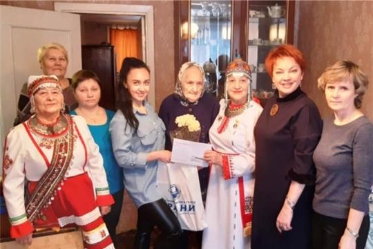 Жительнице г. Новочебоксарска, ветерану Великой Отечественной войны и ветерану труда Марии Кузьминичне Чепуровой исполнилось 95 лет