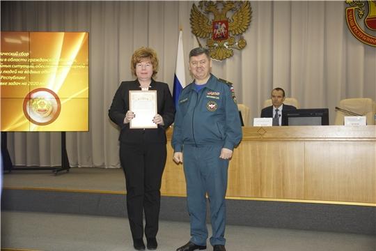 По итогам 2019 года Новочебоксарское городское звено ТП РСЧС Чувашской Республики награждено дипломом второй степени, а ЕДДС города Новочебоксарска вновь стала лучшей в республике