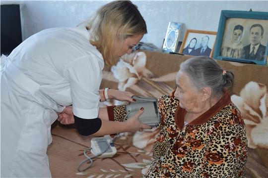 Врачи Новочебоксарской городской больницы начали проводить для ветеранов Великой Отечественной войны комплексный осмотр в домашних условиях