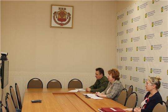 г. Новочебоксарск: глава администрации Ольга Чепрасова приняла участие в совещании с председателями призывных комиссий муниципальных образований республики
