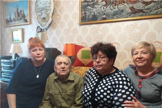 Ветерану Великой Отечественной войны и ветерану труда  Алексею Александровичу Александрову исполнилось 90-лет