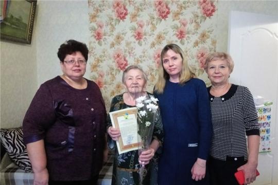 Ветерану Великой Отечественной войны, ветерану труда, Элле Николаевне Кайсаровой  исполнилось 90 лет