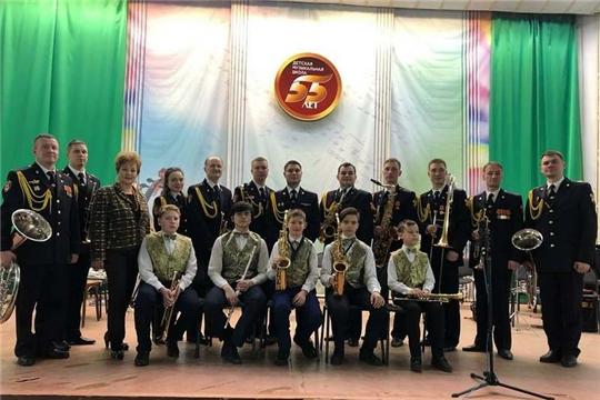 В Детской музыкальной школе прошел концерт Военного оркестра «Волжские берега» Управления Росгвардии по Чувашской Республик