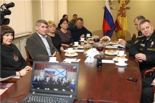 Олег Николаев провел видеомост с членами экипажей ракетного катера «Чувашия» и базового тральщика «Новочебоксарск» Балтийского флота