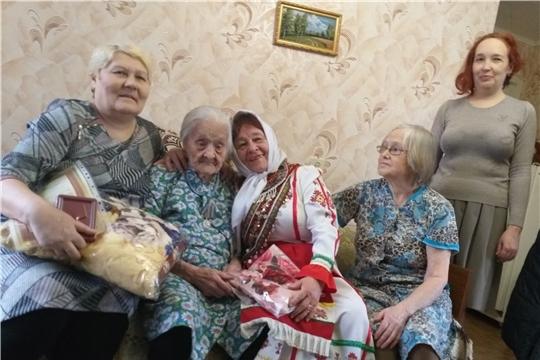 Ветерану Великой Отечественной войны Лидии Андреевне Горбуновой исполнилось 102 года