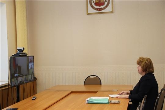 Глава администрации Новочебоксарска Ольга Чепрасова приняла участие в работе совещания Минтранса Чувашии в режиме видео-конференц-связи
