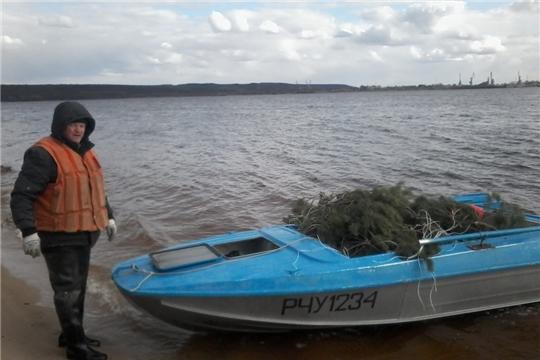 При поддержке Чебоксарской ГЭС на Волге установили искусственные нерестилища