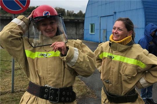 На Чебоксарской ГЭС прошли соревнования пожарных-добровольцев