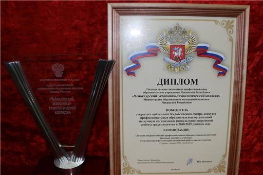 Чебоксарский экономико-технологический колледж трижды стал лучшим в России
