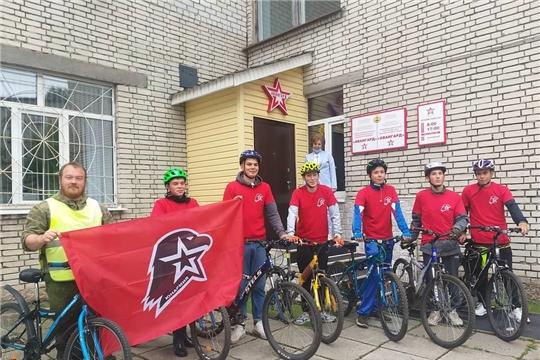 Воспитанники Чувашского кадетского корпуса - участники первого юнармейского велопохода по Чувашии