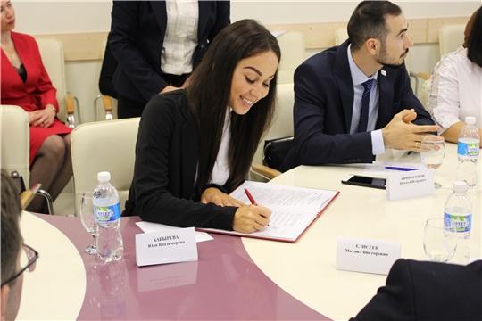 Подписание меморандума о создании общереспубликанского движения «Молодежь Чувашии»