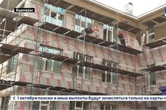 """В вурнарской школе №1 ремонт завершат к 20 октября, ГТРК """"Чувашия"""""""