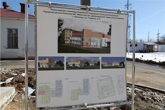 Ход строительства нового инфекционного корпуса Городской детской больницы №2 в Чебоксарах