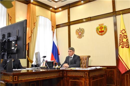 Врио Главы Чувашии Олег Николаев в режиме видео-конференц-связи провел большую пресс-конференцию