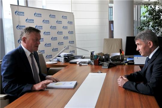 Сергей Густов и Олег Николаев обсудили актуальные вопросы сотрудничества Группы «Газпром межрегионгаз» и Чувашии