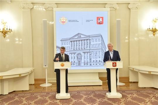 Подписание Соглашения о сотрудничестве Чувашской Республики и Москвы